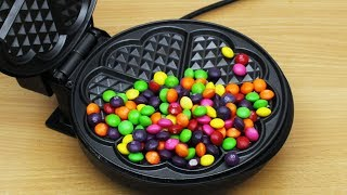 Download EXPERIMENT WAFFLE IRON vs Skittles Video