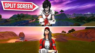 Download FORTNITE NEW SPLIT SCREEN GAMEPLAY! NEW FORTNITE SPLIT SCREEN UPDATE! (Fortnite CHRISTMAS UPDATE) Video