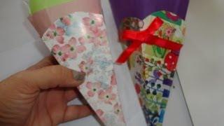 Download Cono o contenedores para dulces Diy de cartón o cartulina Video