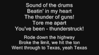 Download AC/DC - Thunderstruck Lyrics Video