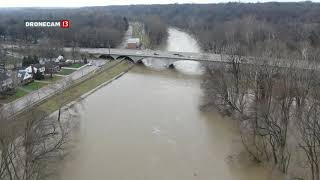 Download Drone Cam 13: Riverview Drive flooding Video