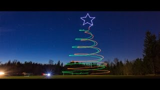 Download World's First Drone Light Painting - THE CHRISTMAS EDIT - Video