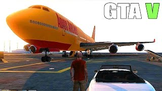 Download Grand Theft Auto V - BIG PLANE, MILITARY BASE, TANKS and FIGHTER JETs (GTA 5) Video
