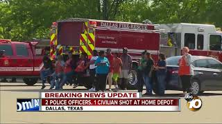 Download 2 police officers, 1 civilian shot at Home Depot Video
