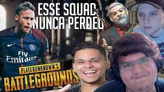 Download JOGAMOS BATTLEGROUNDS COM O NEYMAR!!! ft. Axt, SkipNhO, Lula do PUB, Cris e CIA. Video