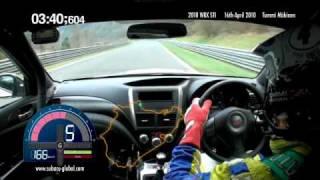 Download Subaru WRX STI sedan Nurburgring record lap with Tommi Mäkinen - on-board footage Video