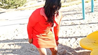 Download EMBARRASSED MAN WEARS A DRESS AND WIG IN PUBLIC PUNISHMENT! IRL 3 POINT CHALLENGE REMATCH! Video