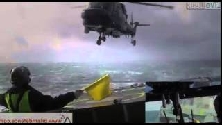 Download Absolute Crazy Helicopter Landing on Ship During Rough Seas Video