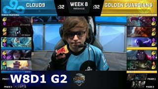 Download Cloud 9 vs Golden Guardians | Week 8 Day 1 S8 NA LCS Summer 2018 | C9 vs GGS W8D1 Video