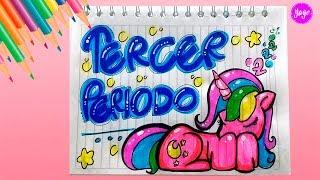 Download IDEA HERMOSA PARA DIBUJAR TERCER PERIODO - Unicornio Kawaii - Cómo marcar cuadernos-Yaye Video