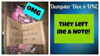 Download THIS STORE LEFT ME A NOTE | Dumpster Diving | Larissa Joelle Video