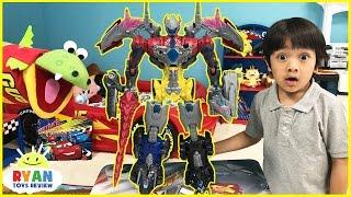 Download Power Rangers vs Justice League MegaZord battle Imaginext T-Rex Dinosaur SuperHeroes Toys Play Video