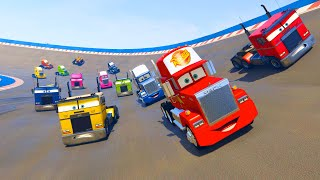 Download Mack Truck and Race Trucks Color - Cars McQueen Jerry Truck and Friends - Videos for kids & Songs Video