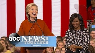 Download Michelle Obama Joins Hillary Clinton on the Campaign Trail Video