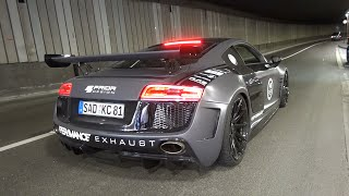 Download 630HP Audi R8 V10 w/ Per4mance Exhaust - Brutal EXHAUST Sounds! Video