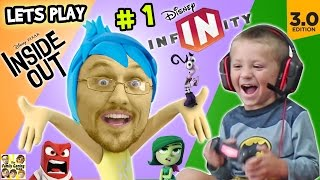 Download Lets Play DISNEY INFINITY 3.0 INSIDE OUT #1: Into the Mind's I (FGTEEV Duddy & Chase Gameplay) Video