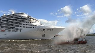 Download Cruise ship MSC Splendida playing We Will Rock You / Seven Nation Army on its horn Video