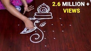 Download dot rangoli for ganesh festival ganesh rangoli with dots 7 to 1 vinayaka chavithi special muggulu Video