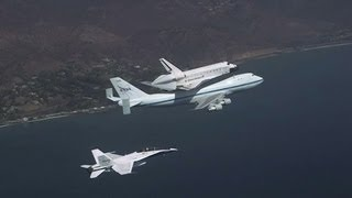 Download Endeavour Landing in Los Angeles - Awesome Chase Plane Video | NASA California Science Video