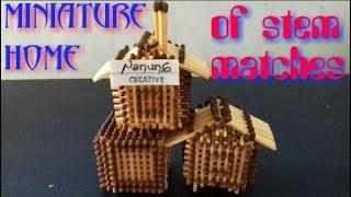 Download Ide Kreatif Membuat Miniatur Rumah Dari Batang Korek Api Video