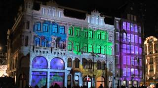 Download 3D projection mapping in the city centre of Amsterdam for H&M Video