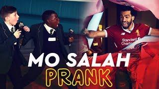 Download Mo Salah bursts through wall to surprise kids | KOP KIDS PRANK Video