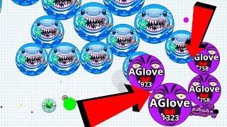 Download Agar.io Solo Funny Trolling vs BIGGEST Clan Destroy Agar.io Mobile Gameplay Video