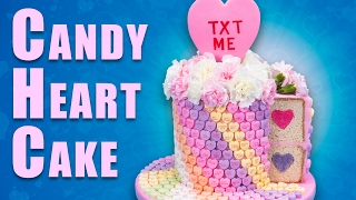 Download Giant Conversation Heart Cake (Candy Hearts Cake) for Valentine's Day Video