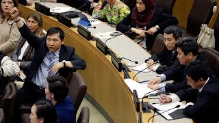 Download North Korea diplomats storm out of UN rights meeting Video