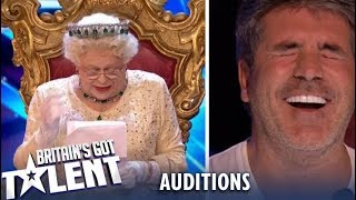 Download OMG! The Queen Comes And ROASTS The Judges..Watch Their Reaction! Britain's Got Talent 2019 Video