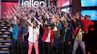 Download Ellen's Favorite Moments: Mark Ronson and Bruno Mars Perform 'Uptown Funk' Video