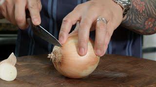 Download Knife Skills - Slicing Onions Video