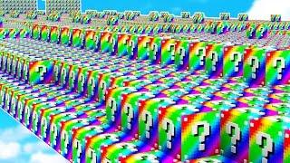 Download WORLD'S UNLUCKIEST MINECRAFT PLAYER! (Rainbow Lucky Block Race) Video