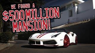 Download A tour of Beverly Hills in my Ferrari 488 Spider, we found a $500million mansion! Video