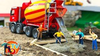 Download BRUDER TRUCK Construction Company! Cement mixer Mercedes Benz Video