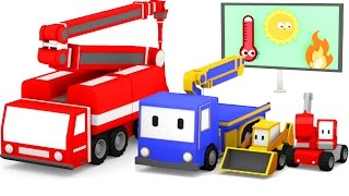 Download The Fire Truck - Learn with Tiny Trucks: bulldozer, crane, excavator | Educational cartoon for kids Video
