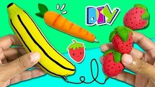 Download ¡¡3 BOLÍGRAFOS de VERANO!! * 🍓🍌 Personaliza tus ÚTILES ESCOLARES: Fresa, Plátano y Zanahoria Video