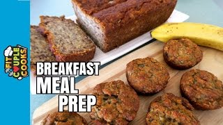 Download BREAKFAST MEAL PREP - Banana Bread 2 Ways (GF/DF) Video