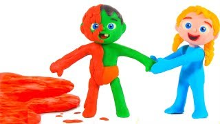 Download SUPERHERO BABY FALLS IN A MUDDY PUDDLE ❤ SUPERHERO PLAY DOH CARTOONS FOR KIDS Video