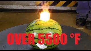 Download White Hot Tungsten Cube (over 3000°C) Vs. Watermelon and Steak Video