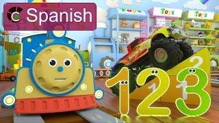 Download Learn Numbers (SPANISH) - Aprende los números con Max el tren y Bill el camión monstruo Video
