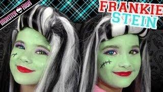 Download Frankie Stein Monster High Costume Makeup Tutorial for Halloween   Kittiesmama & Bratayley Video