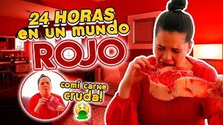 Download 24 HORAS COMIENDO Y VIVIENDO EN UN MUNDO ROJO! 🥩🛑 | Camila Guiribitey Video