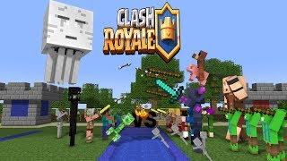 Download Monster School : Fighting Clash Royale - Minecraft Animation Video