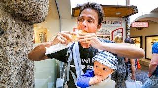 Download Austrian Food - WIENER SCHNITZEL and Best Beer Garden in Salzburg, Austria! Video