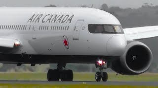 Download INAUGURAL   Air Canada Boeing 787-9 NEW LIVERY Landing & Takeoff ● Melbourne Airport Plane Spotting Video