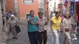 Download Alfama walking tour in Lisbon Video