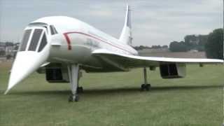 Download A huge Concorde RC plane powered by two turbines. Video