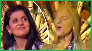 Download Teacher gets a long, slow gunging over her hair and face on RAI Disney (La tortura dell'insegnante) Video