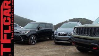 Download 2015 Jeep Renegade vs Nissan Juke vs KIA Soul vs Buick Encore Mashup Review Video